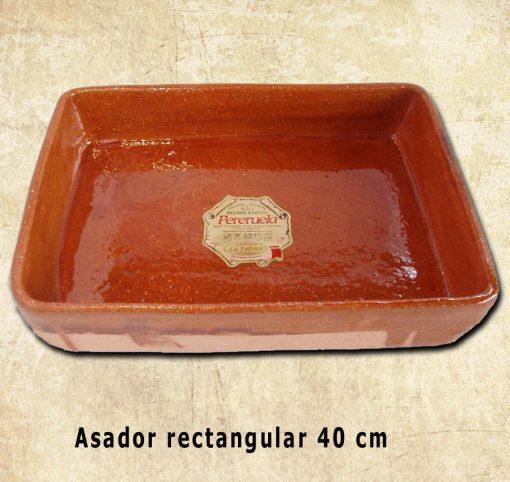asador rectangular barro pereruela