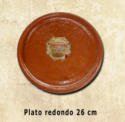 plato redondo de 26 cm