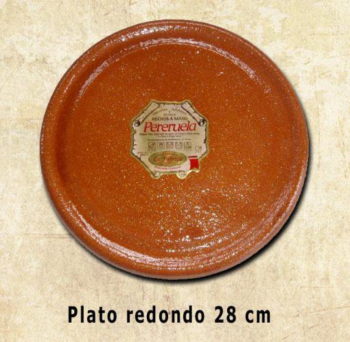 plato redondo de 28 cm