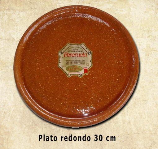 plato redondo de 30 cm