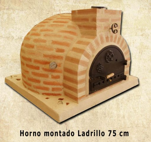horno montado ladrillo 75 centímetrosm