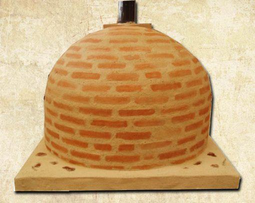 horno montado ladrillo 75 centímetros
