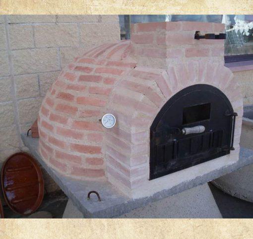 horno montado ladrillo 90 centímetros
